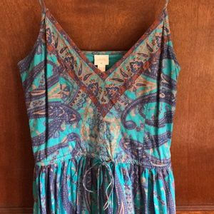 Plenty Blue Paisley Dress Size 8 Anthropologie